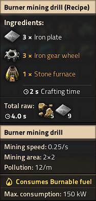 Burner mining drill recipe.png
